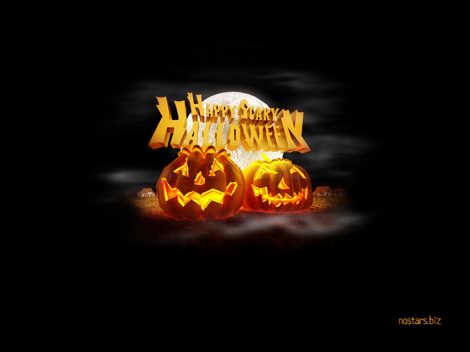 Открытки и обои на Хэллоуин.