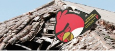Angry Birds разрушают Лиссабон.