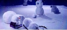 Кошмары снеговиков в стиле Кельвина и Хоббса.