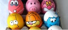 Концептуальные пасхальные яйца.