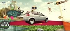 Рекламный сайт нового Ford Ka.