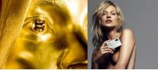 Кейт Мосс из чистого золота.