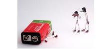 Sparebots: арт из резисторов, конденсаторов и LED диодов.