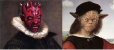 Персонажи Star Wars в мировом искусстве.
