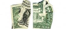 Конец приближается. Оригами из долларов.