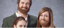 Visa: бородатая семья.